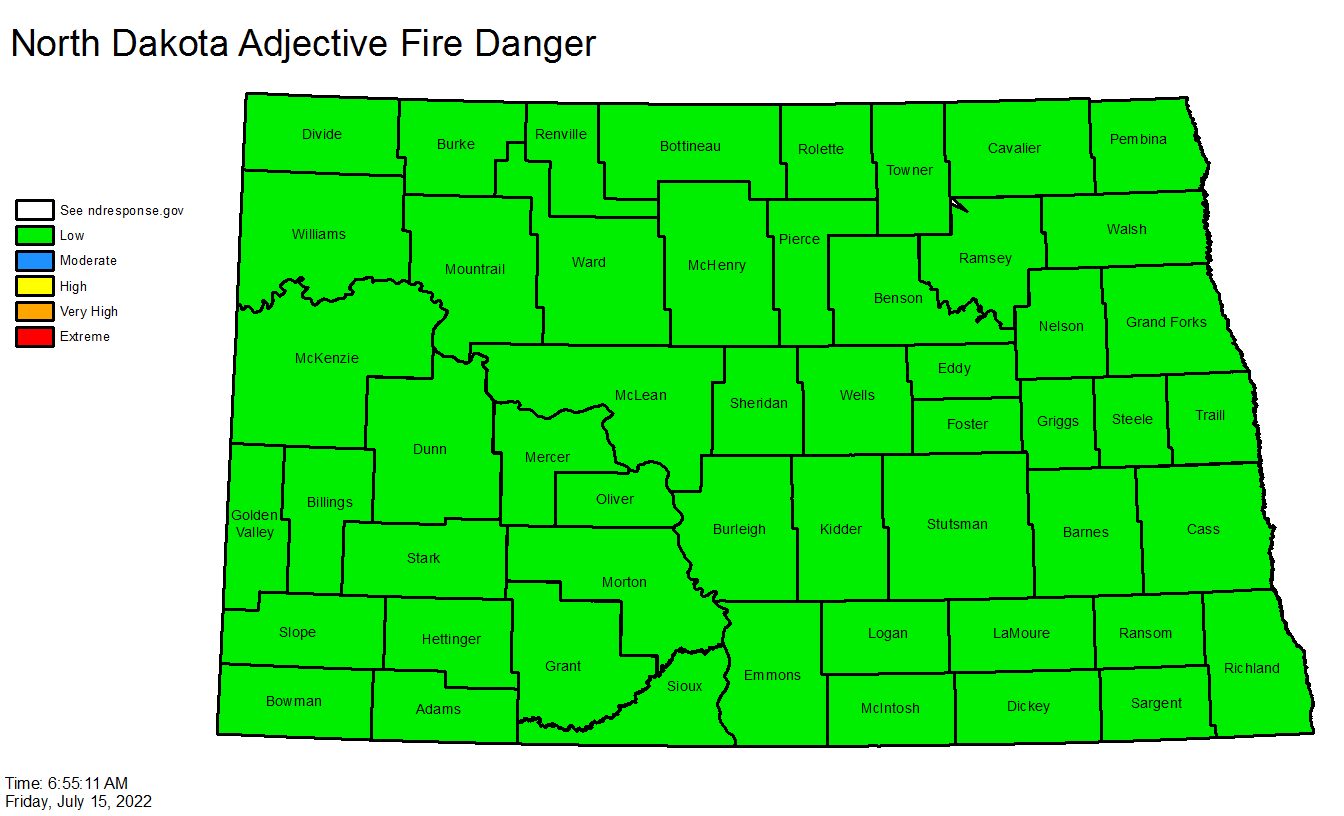 Fire Danger Rating Map