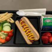 A school lunch tray